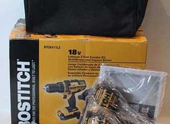 Bostitch 18v Lithium 2 Tool Combo Kit Drill/driver and Impact Driver BTCK411L2