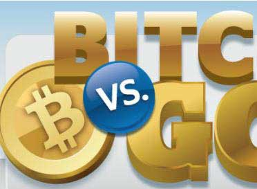 Bitcoin vs Gold Infographic Central Mega Pawn
