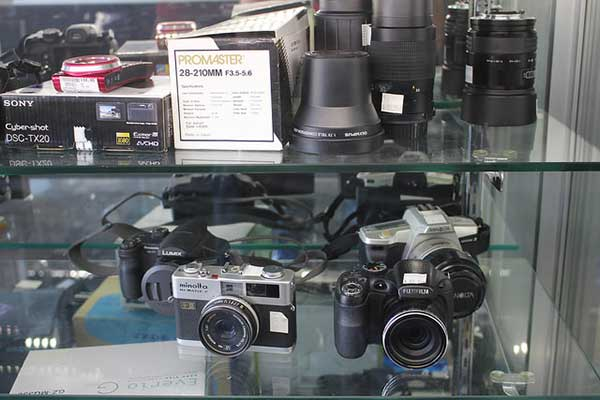 We have extensive collections of video and still cameras